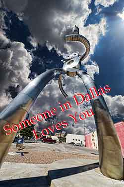 Someone in Dallas Loves You Sculpture
