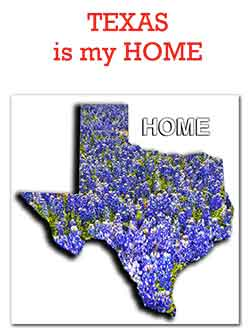 Texas is my Home Bluebonnets
